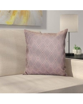 """Latitude Run Decorative Holiday Geometric Print Outdoor Throw Pillow LTRN4963 Size: 20"""" H x 20"""" W, Color: Lavender"""