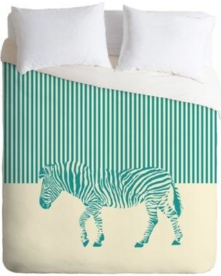 East Urban Home The Wolf the Zebra Duvet Cover Set ETRM9193 Size: King