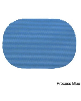 Oval Fishnet Placemat (Set of 12) (Process Blue)