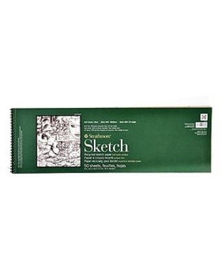 Strathmore Series 400 Premium Recycled Sketch Pads 8 In. X 24 1/2 In. 50 Sheets [Pack Of 2] (2PK-457-8-1),Size: med