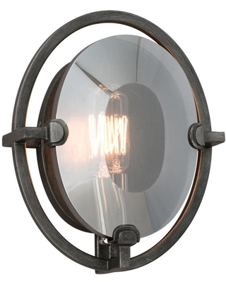 Troy Lighting Prism 7-in W 1-Light Graphite Industrial Wall Sconce   B2821