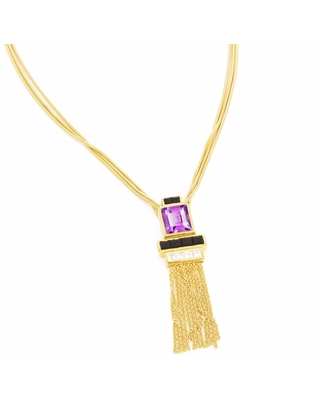 Neola - Charleston Gold Necklace With Amethyst