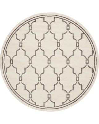 Safavieh Amherst Ivory/Gray 7 ft. x 7 ft. Indoor/Outdoor Round Area Rug