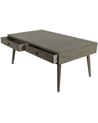Langley Street™ Pelham Modern Coffee Table with Storage MHZU2162 Color: Restoration Gray