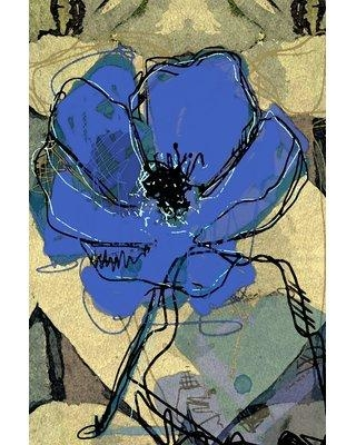 """Marmont Hill """"Sketch Ultramarine"""" Painting Print on Wrapped Canvas MH-MWW-GREBEN-26-C- Size: 24"""" H x 16"""" W x 1.5"""" D"""