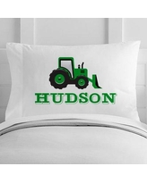 4 Wooden Shoes Personalized Bulldozer Toddler Pillow Case WF-12-108