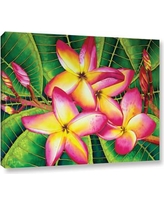 """Bay Isle Home 'Frangipani Flower' Painting Print on Wrapped Canvas BYIL1192 Size: 24"""" H x 32"""" W x 2"""" D"""