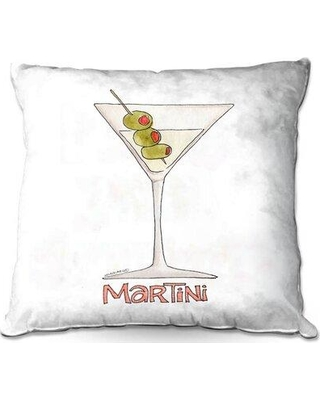 """Ebern Designs Rivard Couch Cocktails Martini Throw Pillow W000263918 Size: 20"""" x 20"""""""
