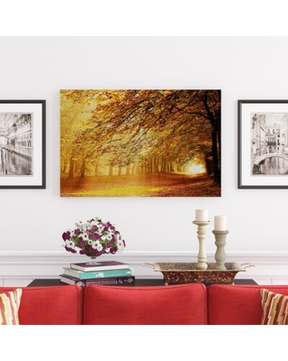 """'Pan's Residence' Oil Painting Print on Wrapped Canvas Alcott Hill Size: 24"""" H x 36"""" W"""