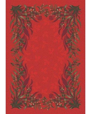 "Astoria Grand Shryock Baskerville Titian Rug W001184652 Rug Size: Rectangle 7'8"" x 10'9"""