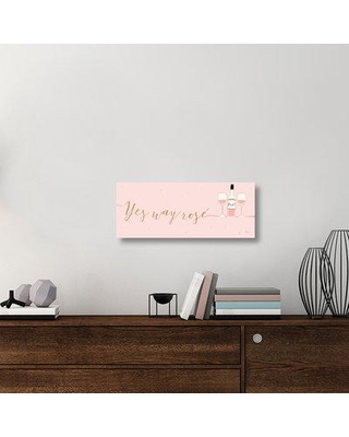"""East Urban Home 'Underlined Bubbly II Pink' Textual Art on Canvas UBAH1508 Size: 12"""" H x 30"""" W x 1.5"""" D"""
