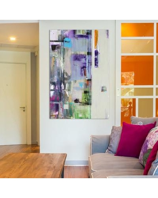 """East Urban Home Admire Painting Print on Wrapped Canvas ESRB2320 Size: 18"""" H x 26"""" W x 0.75"""" D"""