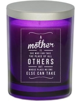 "Carved Solutions Gem ""Mother's Place"" Jar Candle WXH1395 Color: Amethyst"