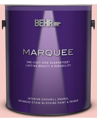 BEHR MARQUEE 1 gal. #160C-2 Flush Pink Eggshell Enamel Interior Paint and Primer in One