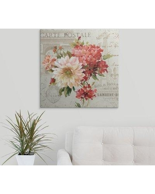 "Great Big Canvas 'P.S. Je T'aime I' by Lisa Audit Graphic Art Print 2174939_1 Size: 24"" H x 24"" W x 1.5"" D Format: Canvas"