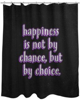 East Urban Home Happiness Inspirational Quote Chalkboard Style Shower Curtain EBKM6275 Color: Purple