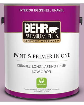 BEHR Premium Plus 1 gal. #680F-4 Soft Heather Eggshell Enamel Low Odor Interior Paint and Primer in One