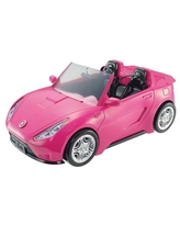 Barbie Estate Play Vehicle Signature Pink Convertible with Seat Belts