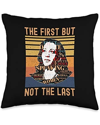 Inauguration costume Chucks and Pearls 2021 The First But Not Not The Last 20th January 2021 Vintage Throw Pillow, 16x16, Multicolor