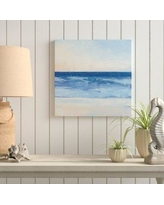 """Rosecliff Heights 'True Blue Ocean II' Painting Print on Wrapped Canvas ROHE4959 Size: 36"""" H x 36"""" W x 2"""" D"""