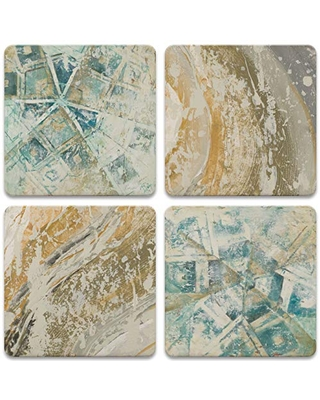 CoasterStone Beach Abstracts Set of 4 Coasters, One Size, Multicolored