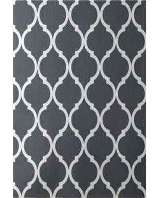 e by design French Quarter Print Flatweave Steel Area Rug RGN228GY3 Rug Size: Rectangle 2' x 3'