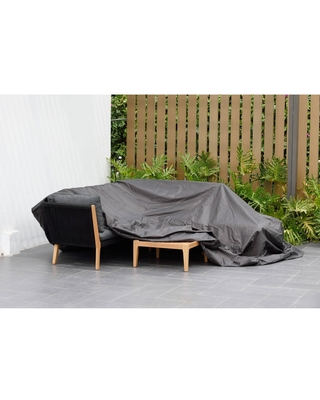 Patio Cover for Dining Set Square and Waterproof - Black - Amazonia