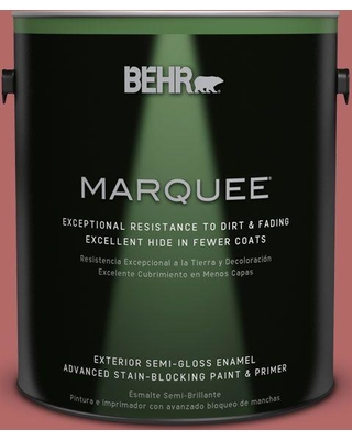 BEHR MARQUEE 1 gal. #PMD-12 Desert Rose Semi-Gloss Enamel Exterior Paint and Primer in One