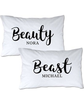 4 Wooden Shoes Personalized Beauty & Beast Pillowcase WF-1-102