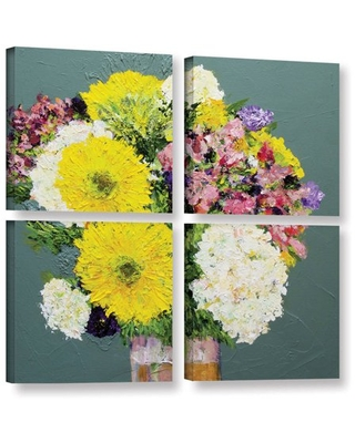 """ArtWall Allan Friedlander """"Beautiful Day"""" 4-Piece Gallery-Wrapped Canvas Square Set"""