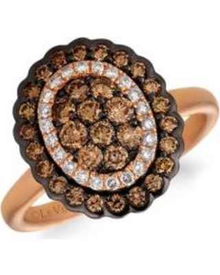 Le Vian Strawberry Gold Creme Brulee 3/4 ct. t.w. Chocolate Diamonds, 1/6 ct. t.w. Nude Diamonds™ Ring in 14K Strawberry Gold