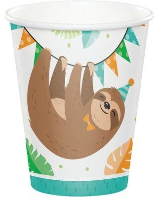 Creative Converting Sloth Party Paper Disposable Every Day Cup DTC344501CUP