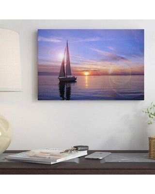 "East Urban Home 'Sailboat' Photographic Print ESRB6894 Format: Canvas Size: 12"" H x 18"" W x 1.5"" D"
