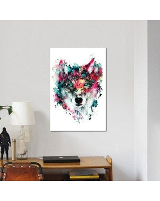 """East Urban Home 'Wolf II' Graphic Art Print on Canvas URBH6920 Size: 26"""" H x 18"""" W x 0.75"""" D"""