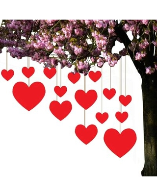 Plastic Hanging Hearts Lawn Figurine The Holiday Aisle®