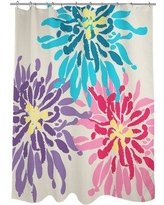 One Bella Casa Lowell Floral Woven Polyester Single Shower Curtain 7066SC71 Color: Purple/Pink/Blue