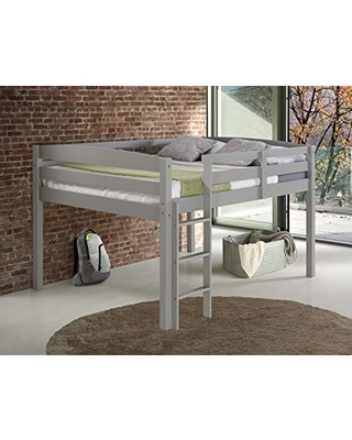 Concord Junior Loft Bed, Full, Grey