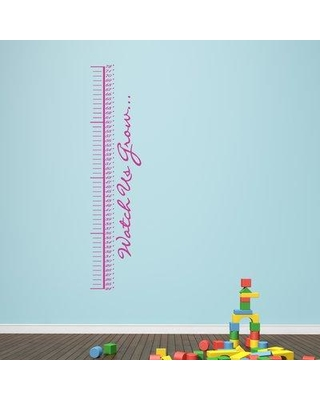 Harriet Bee Watch Us Grow Growth Chart Decal BF204721 Color: Hot Pink