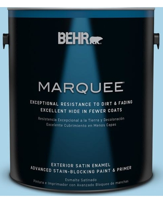 BEHR MARQUEE 1 gal. #550C-3 Monaco Satin Enamel Exterior Paint and Primer in One
