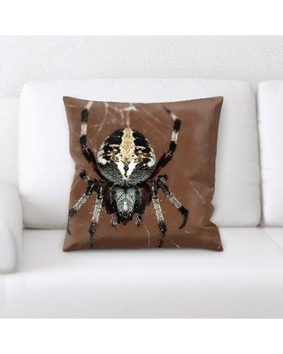 East Urban Home Spider Throw Pillow W000693117