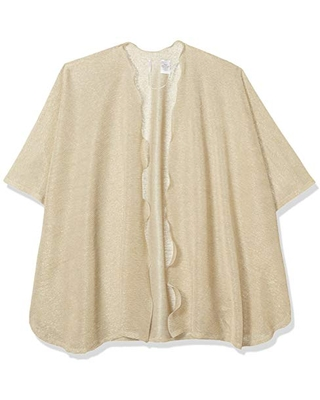 Collection XIIX Women's Lightweight Knit Shawl, Ivory, One Size