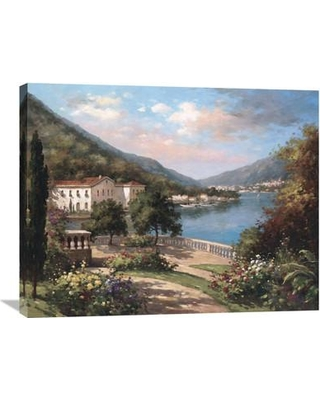 "Global Gallery 'Coastal Gardens I' by Hilger Painting Print on Wrapped Canvas GCS-120638 Size: 24"" H x 32"" W x 1.5"" D"