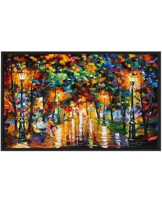 """Winston Porter 'Gossips' Framed Oil Painting Print on Wrapped Canvas BI022971 Size: 21.5"""" H x 33.5"""" W x 2"""" D"""