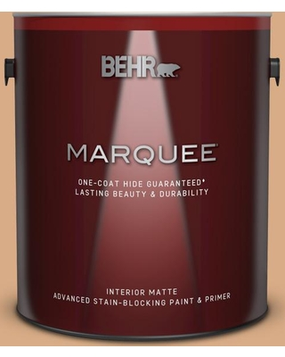 BEHR MARQUEE 1 gal. #BXC-67 Santa Fe Tan Matte Interior Paint and Primer in One