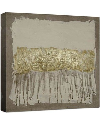 17 Stories 'Gilded Neutral Ravine I' Framed Acrylic Painting Print on Wrapped Canvas CG120051