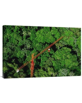 "East Urban Home 'Rainforest Canopy Research Crane Stri Panama' Photographic Print EAAC8737 Size: 24"" H x 36"" W Format: Wrapped Canvas"