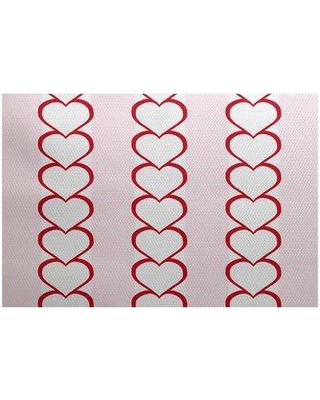 The Holiday Aisle Valentine's Day Red Indoor/Outdoor Area Rug IMEZ7133 Rug Size: Rectangle 3' x 5'