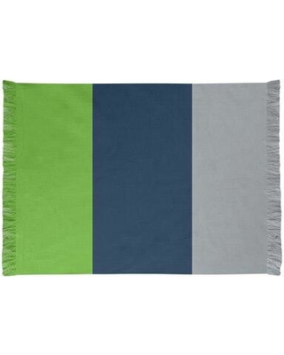 East Urban Home Seattle Football Blue/Gray/Green Area Rug FCJK0442 Backing: No