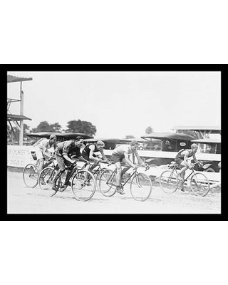 """Buyenlarge 'Bicycle Race in Washington D.C.' Photographic Print 0-587-19575-4 Size: 24"""" H x 36"""" W x 1.5"""" D"""