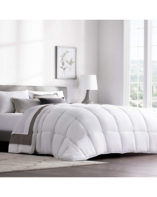 Hypoallergenic Quilted Down Alternative Hotel-Style Comforter (White - Twin XL)